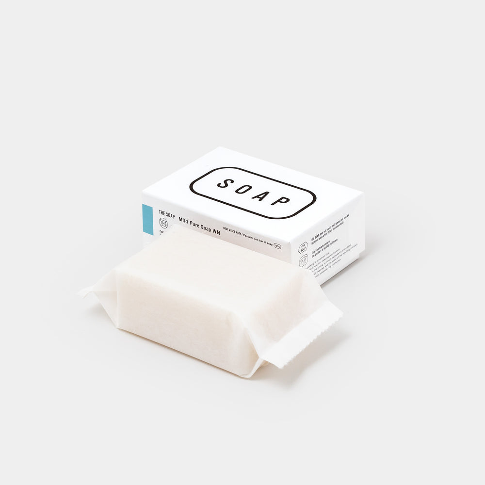 THE Soap with packaging box angle