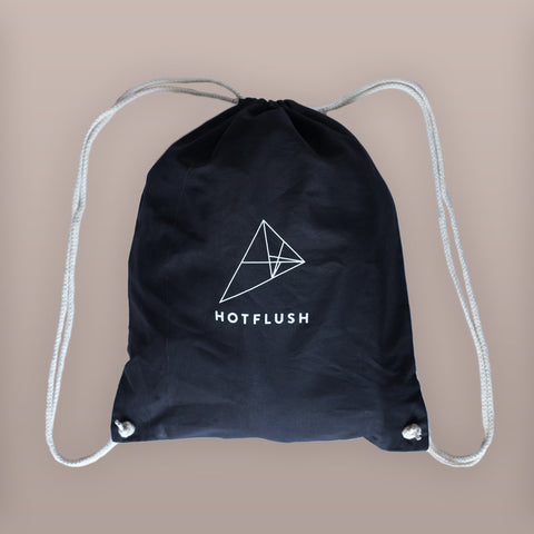 "Black ""Hotsack"" Logo Print Gym Bag"