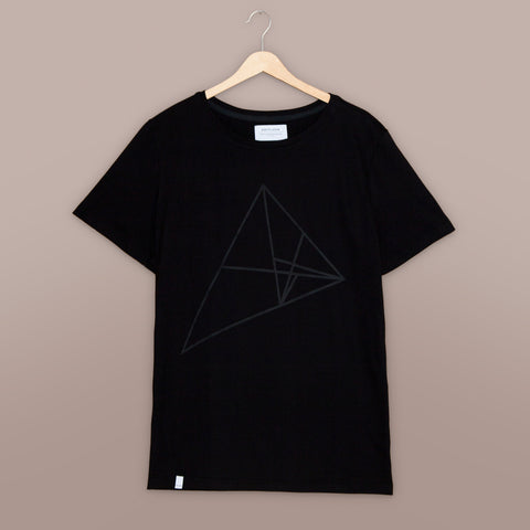 Triangulation T-Shirt (Black on Black) | Hotflush Clothing