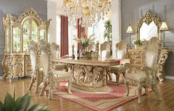 ROYAL LUXURY FORMAL TRADITIONAL 9PCS DINING SET HD-7012