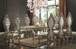 Luxury CHAMPAGNE Formal Traditional  9PCS Dining Set  HD-13012