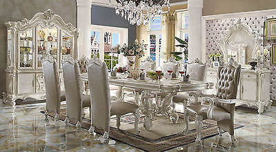 VERSAILLES DINING SET IN BONE WHITE FINISH 7 PIECE SET