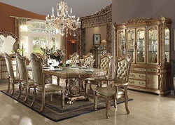 Formal  Traditional Vendome Gold Patina 9 Pc  Dining Room Set