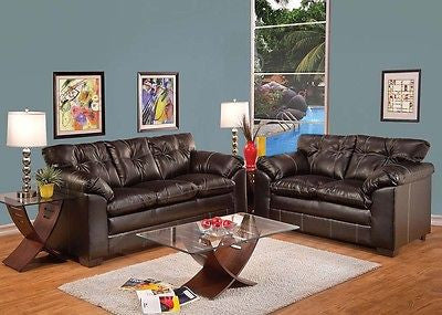 Hayley Chocolate 2pc. Acme Furniture Set