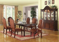 QUIMBY FORMAL DINING TABLE  CHERRY FINISH  7 PIECE SET