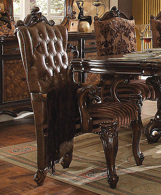 VERSAILLES 4 LEG DINING SET IN  CHERRY OAK FINISH 7 PIECE SET