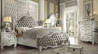 Versailles VINTAGE GRAY 6Pc King Bedroom Set By Acme 21147EK