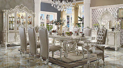 VERSAILLES DINING SET IN BONE WHITE FINISH 9 PIECE SET