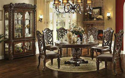 Formal  Traditional Vendome Cherry 7 Pc Round  Dining Room Set