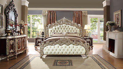 NEW Luxarious Royal European Button Tuft Bedroom Set King 5 pc.HD 8017