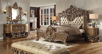 NEW Luxarious Royal European Button Tuft Bedroom Set King 6pc.HD 8018