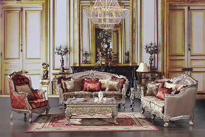 Luxury Formal 3 Piece Living Room Set HD-1880
