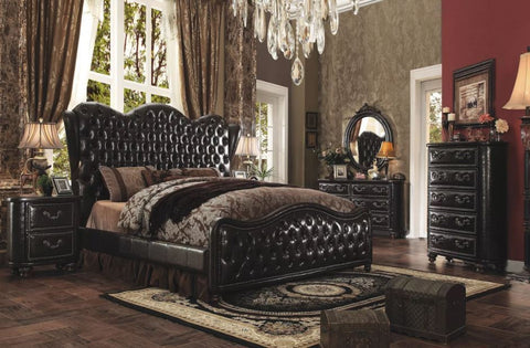 Opulent Varada Dark Cherry Queen Bedroom Set 6pc. + Free Shipping