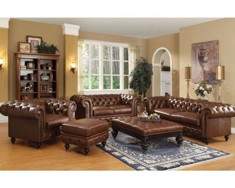 Acme Shantoria 2pc Living Room Set in Dark Brown
