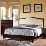 Graceful Raleigh Cherry & Cream King Bedroom Set 6pc. + Free Shipping