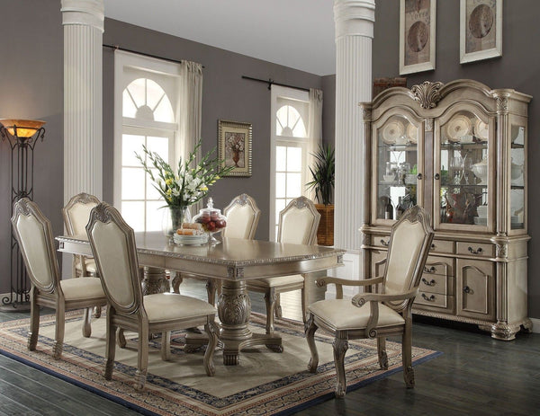 Chateau de Ville Formal Dining Room 7 Pcs Set in Antique White