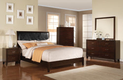 Contemporary Tyler Cappuccino Twin Bedroom Set 5 pc.w Chest + Free Shipping