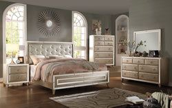 Regal Voeville Antique Gold Queen Bed + Free Shipping
