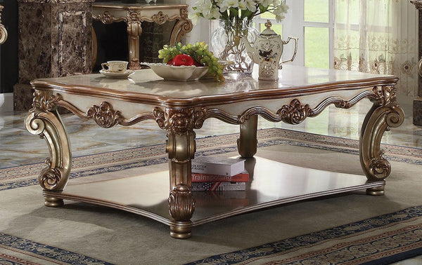 ACME VENDOME IN GOLD PATINA RECTANGULAR COFFEE TABLE 4PCS SET