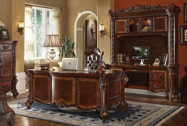 ACME 92125 VENDOME TRADITIONAL CHERRY COMPUTER DESK , HUTCH