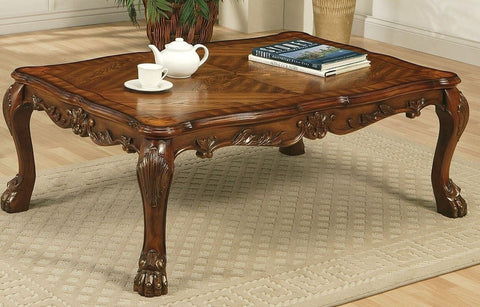 ACME DRESDEN COFFEE TABLE CHERRY OAK FINISH