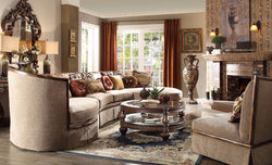 Formal   Classic European Style Luxury 3 Piece Sectional Set HD-1627
