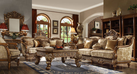 New Formal Luxury Classic European Style  3 Piece Living Room Set HD-610