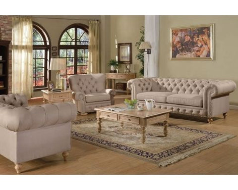 Acme Shantoria 2pc Living Room Set in Beige
