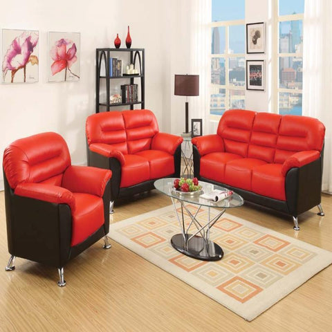 Acme Sibba Red/Black 3pc living room set