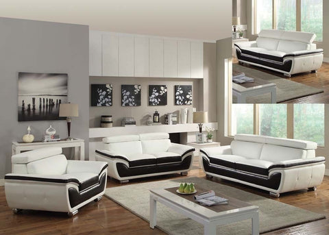 Olina White Leather  Sofa By Acme