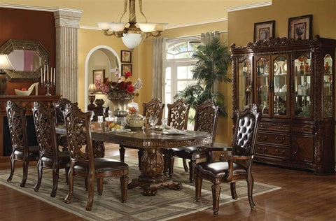 Formal  Traditional Vendome Cherry 9 Pc Double Pedesta  Dining Room set
