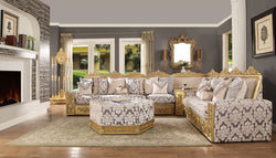 New Formal Luxury  Mediterranean Style 7 Seat Sectional /Ottoman Set HD-459