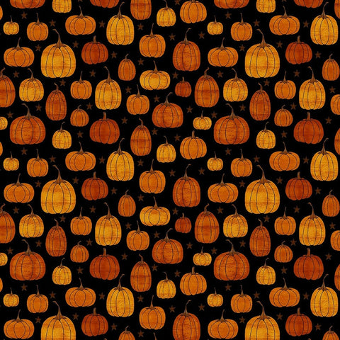 Face Mask with Filter Pocket:  Pumpkins