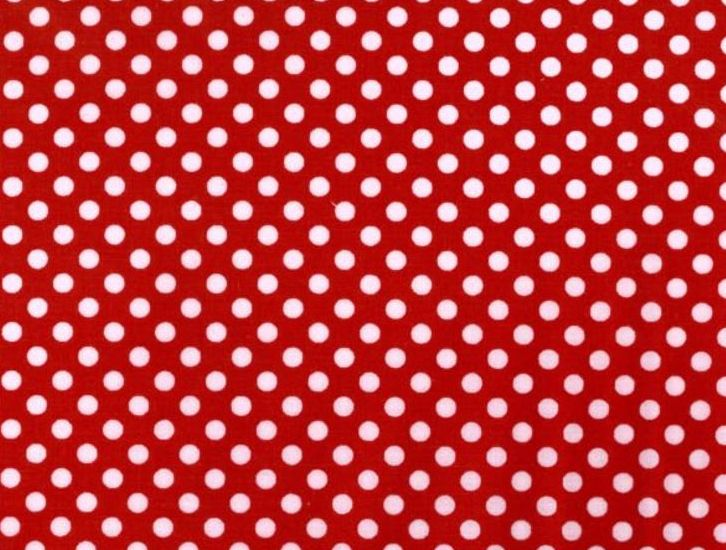 Face Mask with Filter Pocket:  Red and White Dots