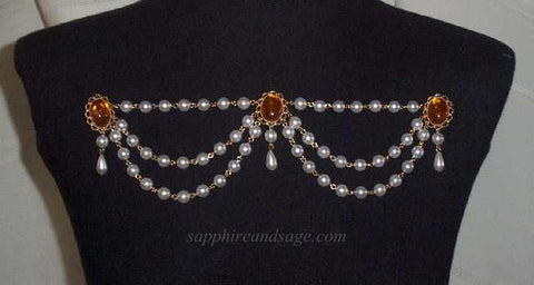 """Guinevere"" Swag Bodice Jewelry"