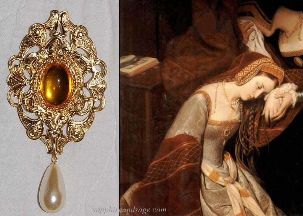 """Anne in the Tower"" Portrait Replication Brooch"