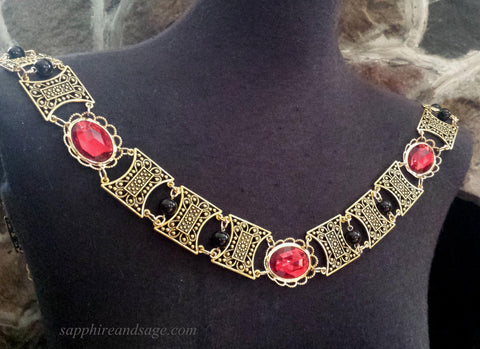 """Edward"" Jeweled Renaissance Collar of Office, 50-55 inches"