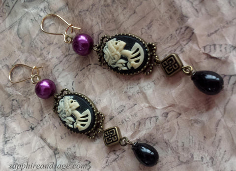 """Lolita"" Pirate Renaissance Earrings"