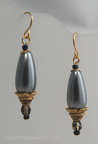 """Roxanne"" Renaissance Pearl Drop Earrings"