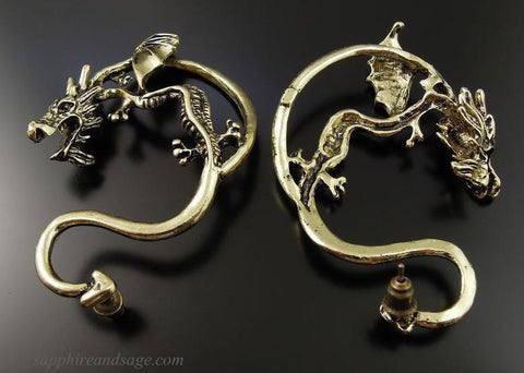 Dragon Wrap Pierced Renaissance Earring