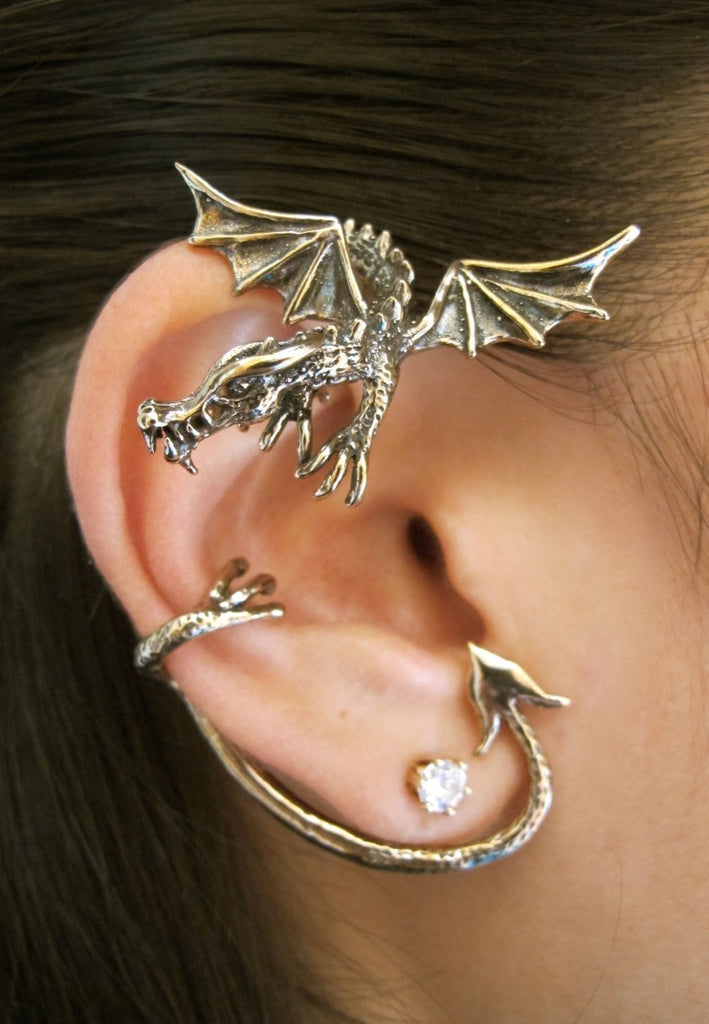 """Dragon Wrap"" Cuff Renaissance Earrings - READY TO SHIP"