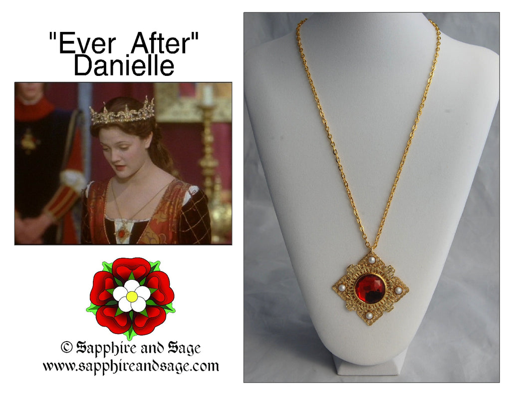 """Danielle"" Ever After Movie Replication Pendant Necklace"