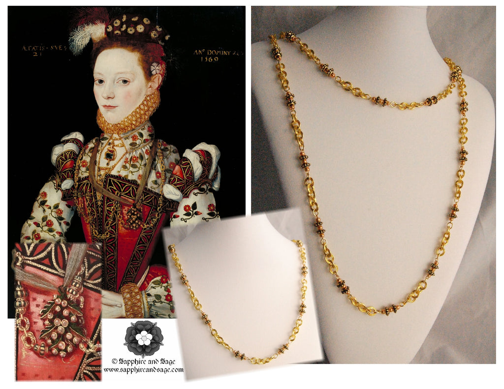 """Helena Snakenborg"" Renaissance Portrait Replication Necklace"