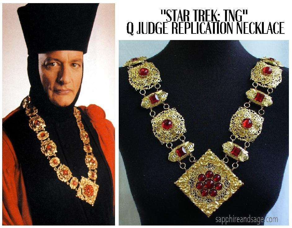 """Star Trek: The Next Generation"" Q Judge Replication Necklace - Made to Order"