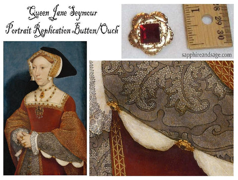 """Queen Jane Seymour"" Floral Ouch Garment Embellishment"
