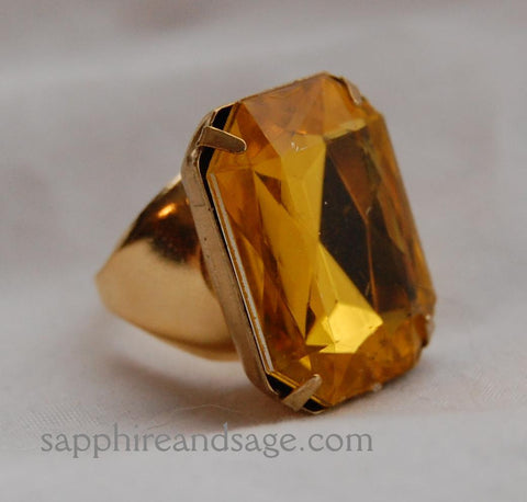 Large 25x18mm Faceted Octagon Finger Ring