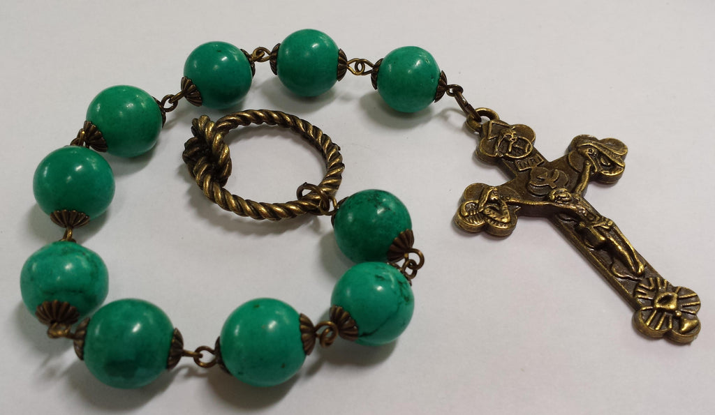 Oversized Linear Rosary, 14mm Magnesite Stone Beads - READY TO SHIP