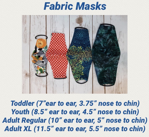 Face Mask with Filter Pocket:  Tossed Baby Yodas