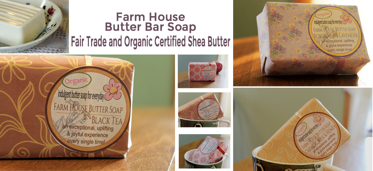 farm house butter bar soap with 11 butters and oils