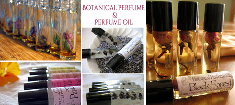 botanical roll on perfume oil, organic
